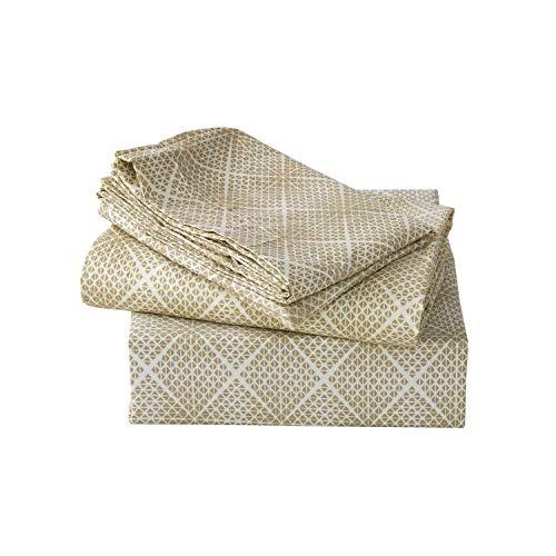 GYYbling Solide Bettlaken Set rauter Mikrofaser Super Soft Mikrofaser bedrucktes Blatt Set, Pyramide, König -