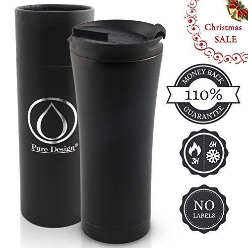 Taza de café aislada / térmica y elegante - conveniente para el viaj