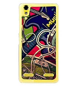 Fuson Premium Rock Music Metal Printed with Hard Plastic Back Case Cover for Lenovo A6000 Plus