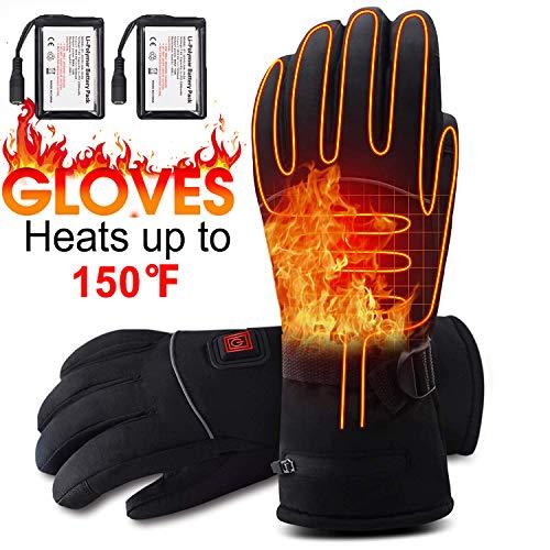 Svpro Elektrisch Beheizte Handschuhe Thinsulate Insulation Handwärmer, Winddicht Batterie Beheizte Wanderhandschuhe Klettern Skifahren Snowboarding.