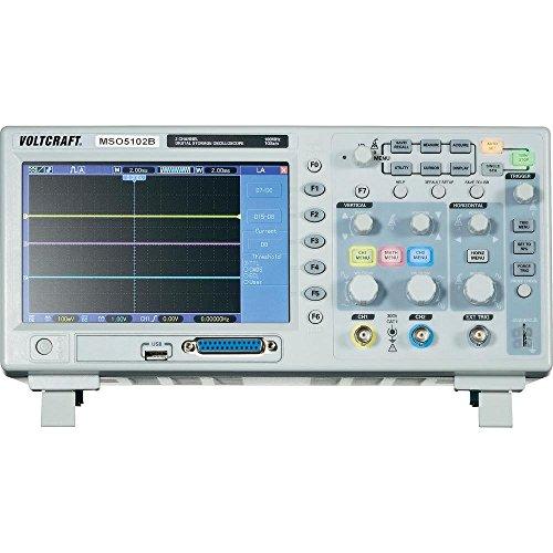 OSCILOSCOPIO DIGITAL VOLTCRAFT MSO-5102B 100MHZ TIPO DE CANAL 2/16