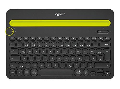 Logitech K480 kabellose Bluetooth-Tastatur für Computer, Tablet und Smartphone (QWERTZ) schwarz Qwerty Bluetooth