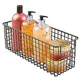 mDesign Badkorb zur Kosmetikaufbewahrung - für Shampoo, Lotion, Schwämme etc. - auch als Handtuch Aufbewahrung geeignet - bronzefarben