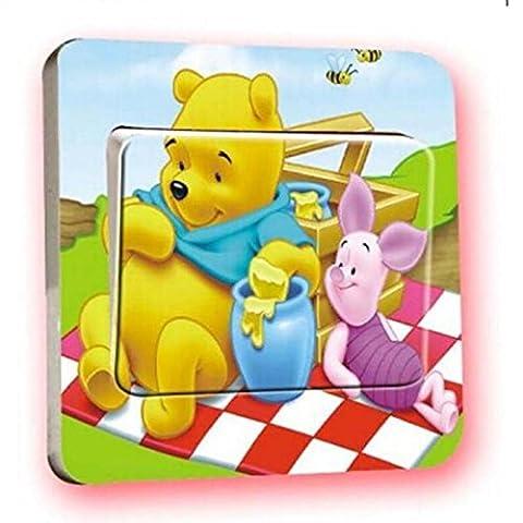 ACNails-Lichtschalter Wandsticker Aufkleber Wandtattoo Kinder Cartoon Winnie Pooh Motiv Deko Schalter #156
