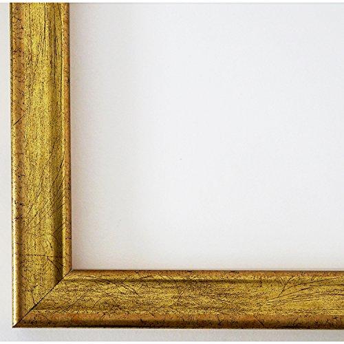 Bilderrahmen Kiel 2,3 - Gold - Alle Größen und über 500 Varianten zur Auswahl - handgefertigt -...