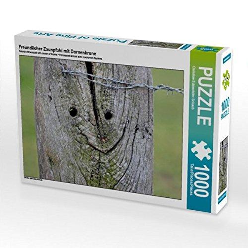 Freundlicher Zaunpfahl mit Dornenkrone 1000 Teile Puzzle quer
