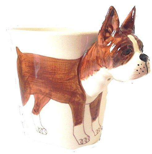 b2see Boxer-Hund-e-Tasse Tier Tasse-3d-mit-Hund-emotiv Hunde-Kopf-Bild 14 x 15 x 10 cm