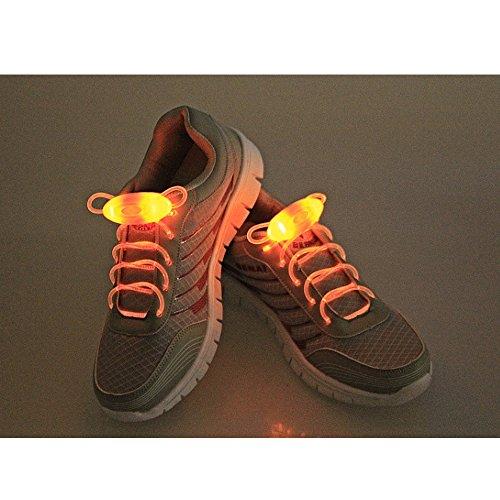 Eastlion LED Schnürsenkel Leuchten Flash-Glühen-Stock-Strap mit 3 Modi für Disco, Tanzen, Cosplay Gelb