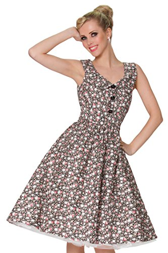 SEXYHER Damen 1950 Vintage Style Revers MulticolorBaumwolle ...