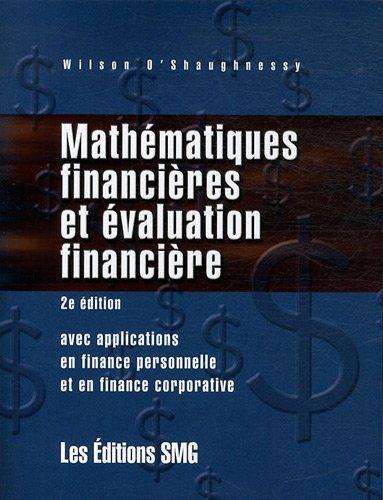 Mathématiques financières et évaluation financière