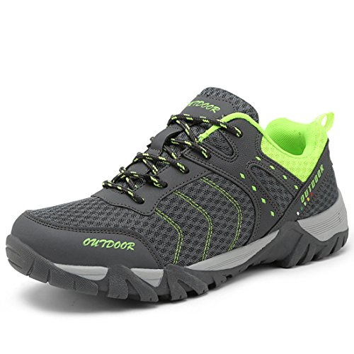 Men's Zapatillas Hombre Breathable Outdoor Hiking Shoes gray