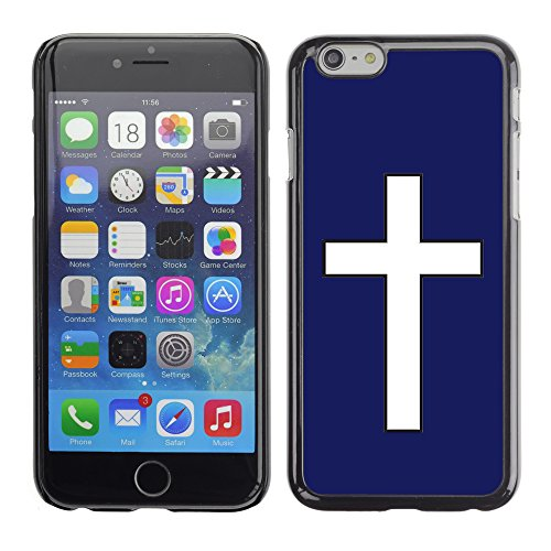 Graphic4You Kreuzr Design Harte Hülle Case Tasche Schutzhülle für Apple iPhone 6 / 6S (Gelb) Marineblau
