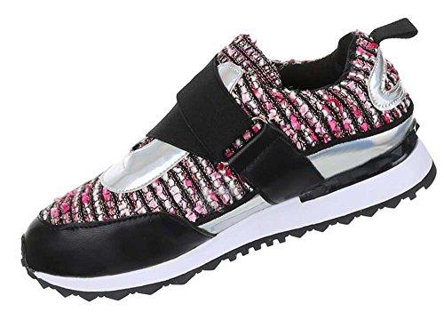 Damen Schuhe Freizeitschuhe Sneakers Turnschuhe Modell Nr.2Schwarz