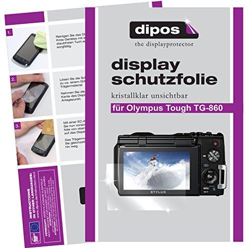 dipos I 6X Schutzfolie klar passend für Olympus Tough TG-860 Folie Displayschutzfolie (Kamera Olympus Tough 3000)
