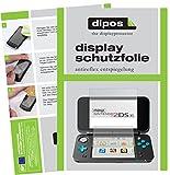 dipos I 2X Schutzfolie matt passend für Nintendo 2DS XL Folie Displayschutzfolie