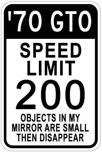 197070Pontiac GTO Speed Limit Schild, Aluminium, weiß, 12 x 18 Inches -