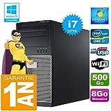 Dell PC Tour 7010 Core I7-3770 Ram 8Go Disque 500 Go Graveur DVD WiFi W7