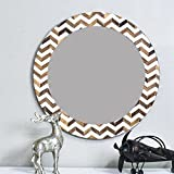 Casa Decor Wavey String Mirror Wall Hanging Wooden Wall Decor Round Shape For Living Room, Bedroom, Kids Room