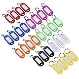 XMOWES Tastenkappe Tag, ID-Tag und geteilten Schlüssel Ring Kunststoff ID-Tag Gepäck 30Pcs