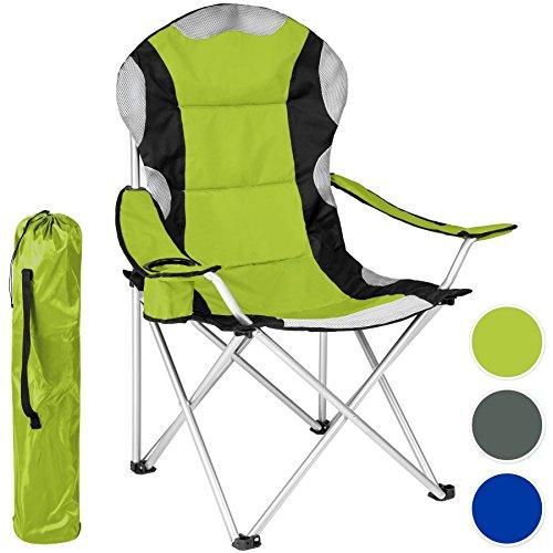 TecTake Chaise de Camping Fauteuil Pliable...