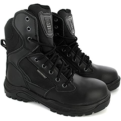 Para hombre combat Botas de combate Militar del Ejército de policía de seguridad de acero para Reino Unido Tamaño
