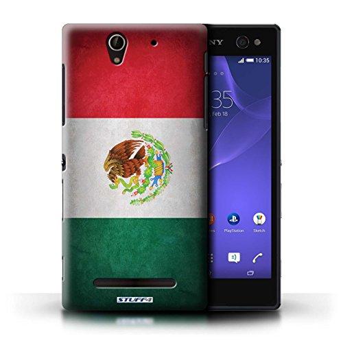 Kobalt® Imprimé Etui / Coque pour Sony Xperia C3 / Portugal/portugais conception / Série Drapeau Mecico/Mecican