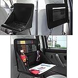 Raiphy Auto Laptop Aufbewahrungsbeutel Auto Organisator mit Laptop-Halter Faltbares Notizbuch Auto Laptop Schreibtisch (Schwarz)