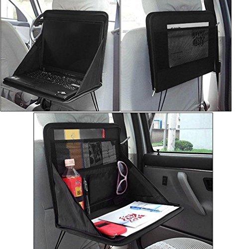 Raiphy Auto Laptop Aufbewahrungsbeutel Auto Organisator mit Laptop-Halter Faltbares Notizbuch Auto Laptop Schreibtisch (Schwarz) (Laptop Auto Halter)