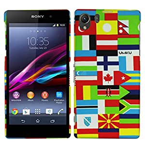 Heartly Mult Flag Printed Design High Quality Hard Bumper Back Case Cover For Sony Xperia Z1 L39H - Canada Flag