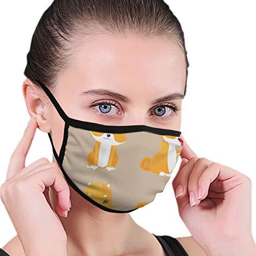 Maske Shiba Inu Hund Cartoon Set Anti-Staub-Baumwolle Mund Gesichtsmasken Mundschutz für Mann und Frau