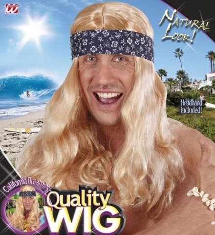 e Stirnband 70er Jahre Mottoparty (Hulk Hogan Perücke)