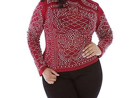 MEINICE - T-Shirt - Femme - rouge - XL
