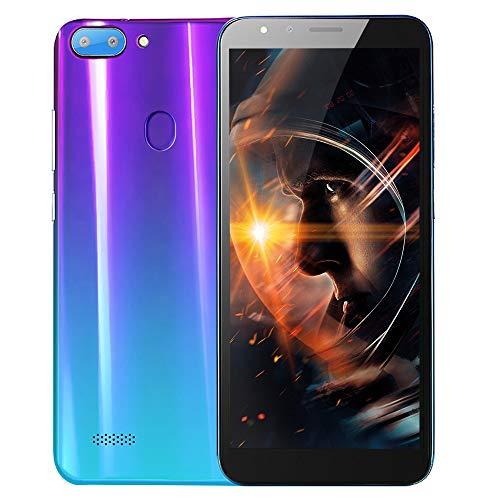 Smartphone, Colorful 5.5''Ultrathin Android 6.0 Octa-Core 512MB RAM+ 4G ROM GSM WiFi Dual-SIM-Dual-Kamera Unlocked Smart-Handy (Lila 2#) (Unlocked Gsm Dual-kamera)