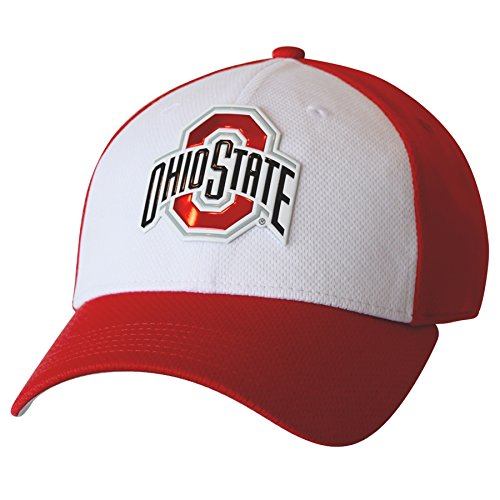 J America NCAA Ohio State Buckeyes Herren Fearless & True Structured Flex Cap, Größe S/M, Weiß/Rot -