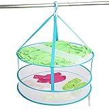 Portátil plegable tendedero para colgar ropa lavandería Secador de perchas red de encaje mujer lencería Jersey de lana bebé prendas