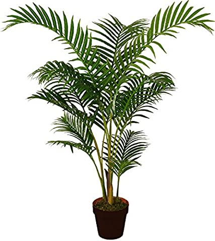 Best Artificial 120cm 4ft Areca Palm Tree Tropical Office Conservatory Indoor Outdoor Garden Plant