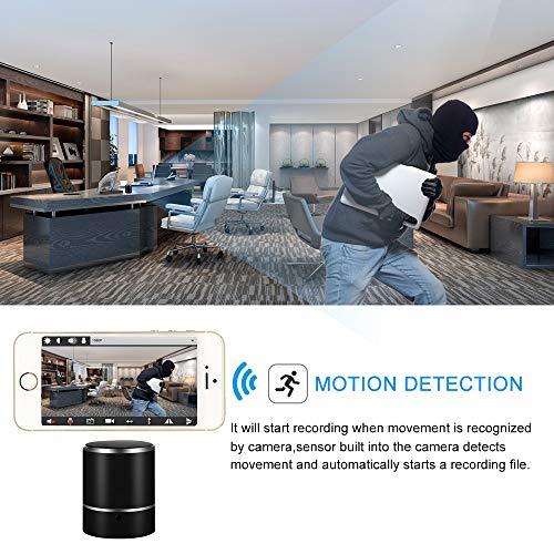 Cámara Espía WiFi LXMIMI Altavoz Bluetooth 1080P HD Cámara Oculta con Lente de Rotación de 180 ° y Detección de Movimiento Grabadora de Vídeo Mini Cámara Inalámbrica