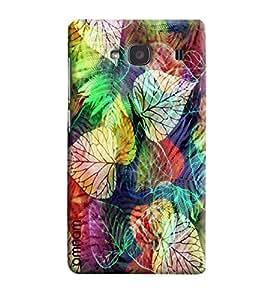 Omnam Colorful Leaf Pattern Printed Designer Back Cover Case For Xiaomi Redmi 2s
