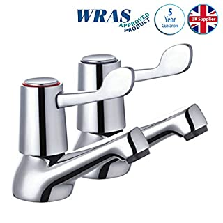 Skara Modern Basin Sink Bathroom Taps Lever Action Chrome