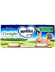 Mellin Alimento per Infazia, Omogenizzato con Carne e Farina di Riso - 2 Confezione da 80 gr