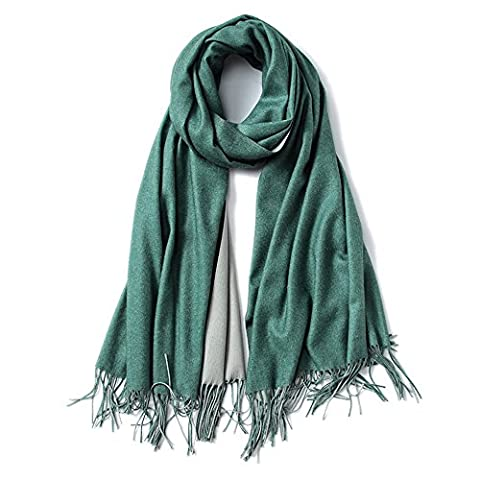 Ladies Pashmina Tassel Scarf Mixed Color Wool Spinning Warm Soft