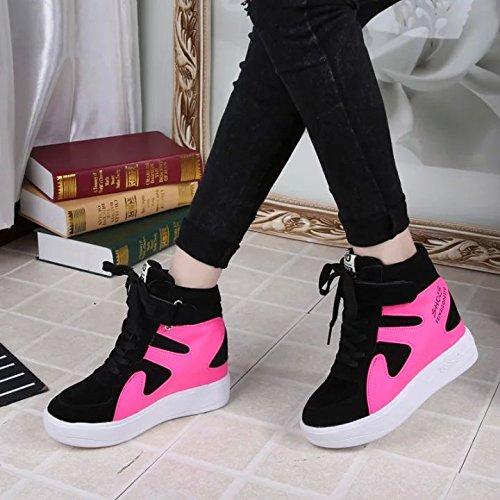 Zapatos De Mujer Khskx-higher Zapatos Deportivos De Ocio Coreano Zapatos De Mujer Respirable Y Estudiantes De Suela Gruesa, Treinta Y Seis Treinta Y Cinco