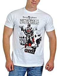 Man Of Steel - Superman T-Shirt - Metropolis Under Siege - White