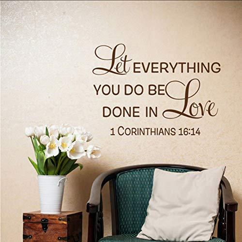 (Mhdxmp)LiebessprücheFamilienzimmer Dekor - 1 KorintherLassen Sie Alles, Was Sie Tun, In Liebe Gemacht Werden78 * 57Cm