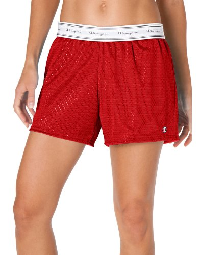Reversible Mesh Damen Shorts, 2XL-Crimson (Mesh Shorts Crimson)