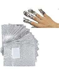 100 Pcs Aluminium Foil Nail Wraps Acrylic Gel Polish Remover