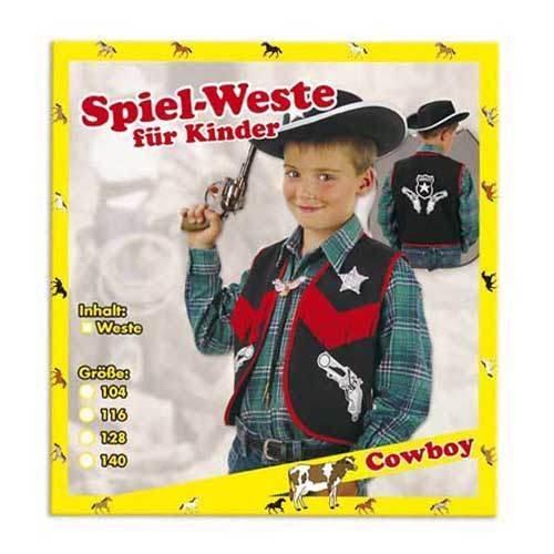 Fasching Karneval Kostüm Spiel-Weste Cowboy : Größe: ()