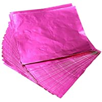 100pcs Square Sweets Candy Chocolate Lolly Paper Aluminum Foil Wrappers Pink