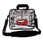 LUXBURG® 17,3 Zoll Schultertasche Notebooktasche Laptoptasche Tasche mit Tragegurt aus Neopren für Laptop / Notebook Computer - Aussicht in London