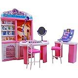 Luxuriöse 11.5 '' Puppenhaus Wohnzimmer-Möbel Set-Cosmetic-Center